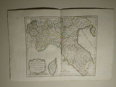 Northern Italy, 1784 HAND COLORED MAP DE VAUGONDY