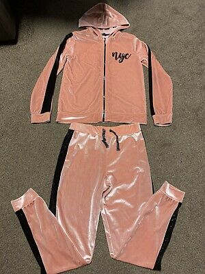 Girls Soft Pink 2 Piece Tracksuit nyc, #girl Power - Age 9-10/10-11 Years Old