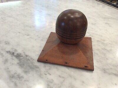 Antique Walnut Staircase Post Finial