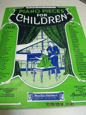 PIANO PIECES for CHILDREN by Maxwell Eckstein 192 pg 1951 Excellent Condition