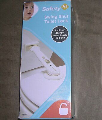 Safety 1st Swing Shut Toilet Lock Universal Sanitary never touch bowl NEW SEALED