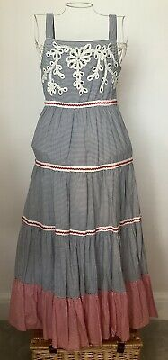 Girls Age 12 M&S Autograph Blue Mix Maxi Dress