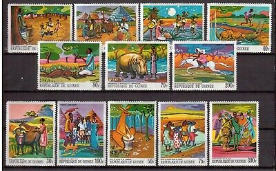 Guinea 1968 Mint Nh Set #504/11 +C101/04, African Legends !!  E19