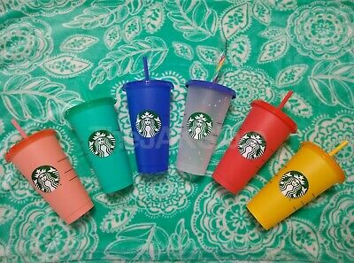 Starbucks Confetti Color Changing Summer Pride 2020 COLD Reusable Cup Venti NEW