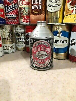 Old Shay De Luxe Beer Crowntainer Cone Top Beer Can ~ Fort Pitt Brewing Co.