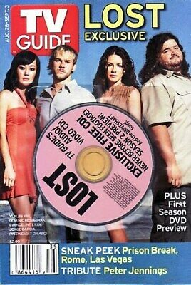 Tv Guide 2005 - Abc Lost 4 Collector Covers - Josh Holloway - Cast Exclusive Cd
