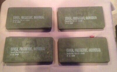 4 WWII Era U.S. Army Unopened Cover, Protective, Individual Blister Gas