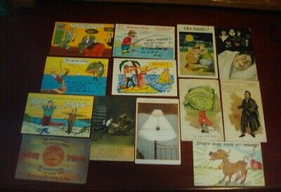 Lot of 13 Vintage Comic  Funny Humor Postcards