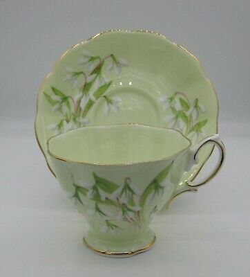 Royal Albert Bone China Footed Tea Cup & Saucer Laurentian Snowdrop