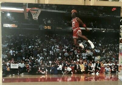 Michael Jordan Nike 1988 MVP Slam Dunk Contest Poster New in Original Wrap 5284