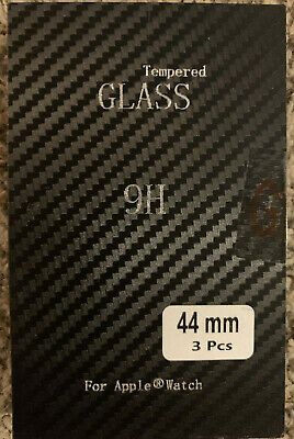 9H 3D Clear Tempered Glass for iWatch 44 mm Screen Protector 3pc