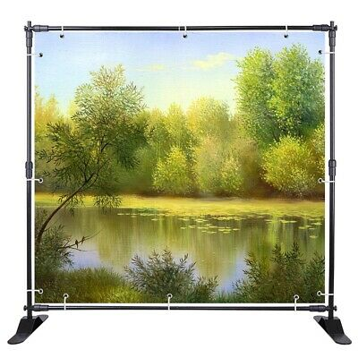 10ft Backdrop Banner Stand Height Adjustable Trade Show Backdrop Wedding Display