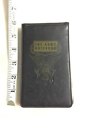 """VINTAGE US ARMY """"THE ARMY NOTEBOOK"""" Vietnam (?) 1957 With Writing inside"""