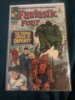FANTASTIC FOUR #58  VF/NM - DOCTOR DOOM, SILVER SURFER - JACK KIRBY Cover & Art