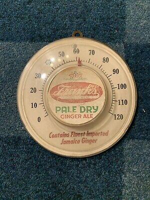 Vintage Frank's Pale Dry Ginger Ale Thermometer 6x5.75