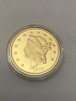 American Mint Copy 1870-CC $20  Double Eagle Gold Plated Coin