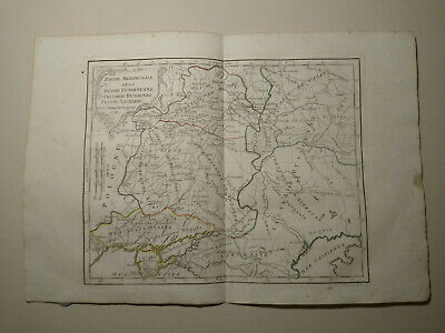 1778 Southern Part Russia in Europe, HAND COLORED MAP DE VAUGONDY