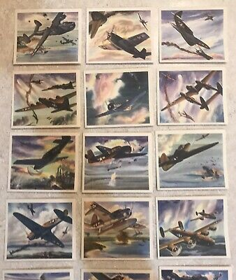 COCA COLA COKE WW2 FIGHTER AIRCRAFT CARDS NRMT+  VINTAGE 1940's AIRPLANES