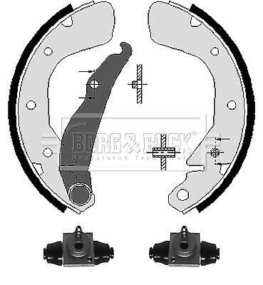 Brake Shoes BBS1093K Borg & Beck Set Genuine Top Quality Replacement New