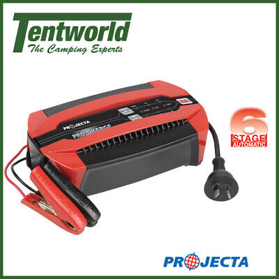 Projecta Campsite Power Pro-Charge Automatic 12 Volt 6 Stage Battery Charger 8A