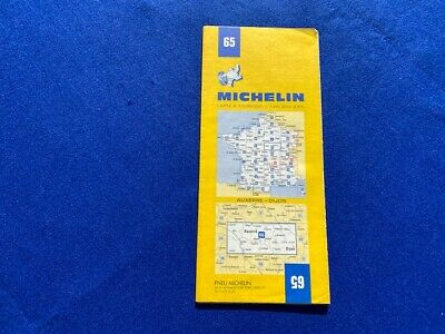 Michelin detailed Area French map 65 On route to South France Auxerre Dijon