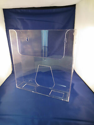 "New,Great Condition - 8.75"" Clear Acrylic Wall Mount Brochure Holders, Lot of 10"