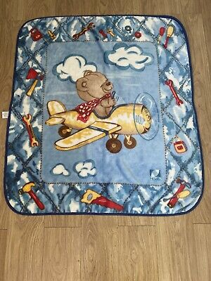 Baby Toddler 'Play' Soft Fleece Blanket Mat Cuddle Rug Picnic Fleece