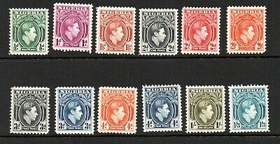 Nigeria 1938 George VI Lightly Mounted Mint set to 1/3 Incl 4d Orange SG 54
