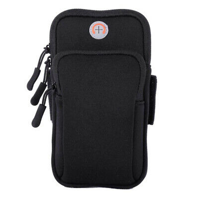 Universal Cell Phone Armband Neoprene Case Pouch for iPhone Sports Holder Black