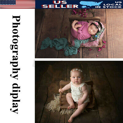 US Wooden Baby Kids Photo Sofa Bed Props Photography Prop Newborn Full Moon Cot
