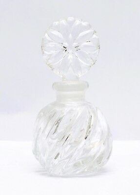 Clear Crystal Cut Glass Perfume Bottle With Stopper