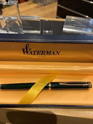 Mint Waterman Gentleman Green Lacquer Fountain Pen- Boxed-Broad Nib