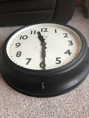 Large Vintage Industrial SMITHS Sectric Factory Station Railway Wall Clock Gents