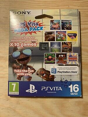 PS Vita  Mega Pack, 16GB Memory Card with 10 Games SEALED