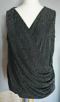 NEXT  Maternity Women's Size 18 Black Silver Glittery Sleeveless Party Top