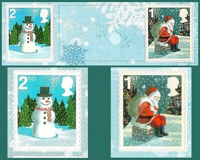 40 Christmas Self Adhesive Stamps~ 20 x 1st + 20 x 2nd Class New & Unused