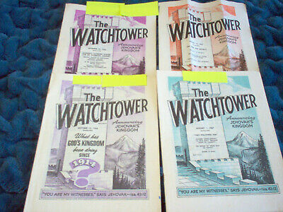 LOT (4)  Watchtower Magazines - 1966, 1967 Jehovah's Witnesses