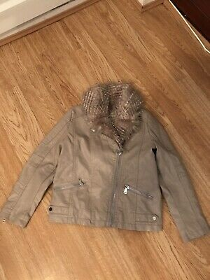 river island Girls 9 Years Faux Leather Jacket