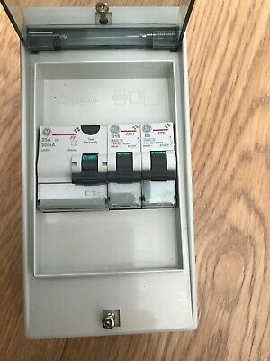 Vynckier consumer unit including RCD & MCBs