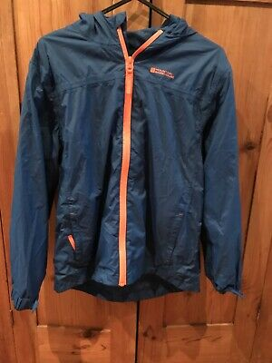 Mountain Warehouse Kagool Age 11-12 Blue With Orange Trims