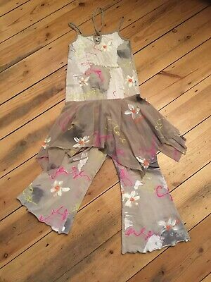 Boutique Balu Handpainted Top And Bottoms/trouser Set Age 6 Years