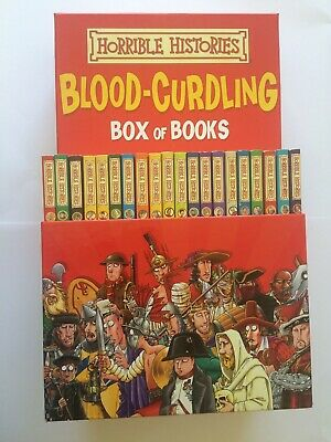 Horrible Histories Blood-Curdling Box 20 Books Terry Deary Set Collection CBBC