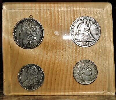Old Coins on a plac