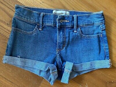Cute Abercrombie And Fitch Girls Denim Shorts Age 11/12 Years