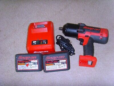 "Snap On 18 Volt 1/2"" Drive MonsterLithium Cordless Impact Wrench set"