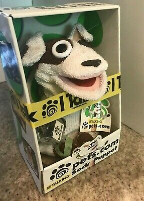 1999 Pets.com Sock Puppet Dog Mascot Toy New in Box Vintage Stock