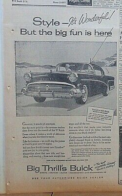 1957 newspaper ad for Buick - Style It's Wonderful! Safety Buzzer for speeding