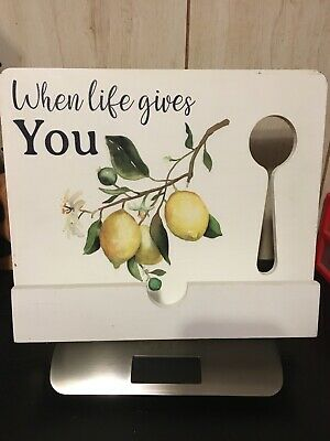 When Life Gives Lemons White Cookbook Holder Desk Reading Rest Textbook Tabletop