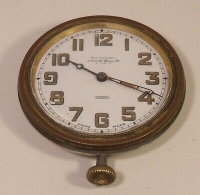 Vintage Swiss Made 8 Day Car Clock (Working)
