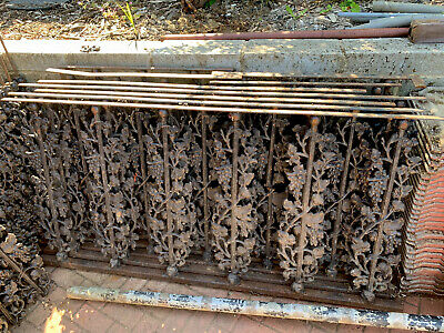 Original Cast Iron balusters, Antique, Reclaimed, Fencing Panels